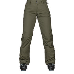 The North Face Sally Womens Ski Pants, Burnt Olive Green, 256