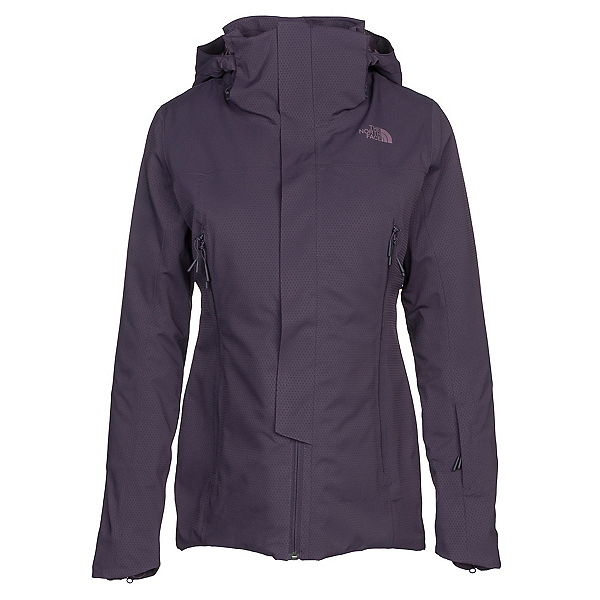The North Face Powdance Womens Insulated Ski Jacket, Dark Eggplant Purple, 600