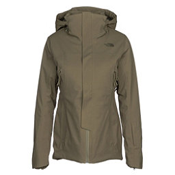 The North Face Powdance Womens Insulated Ski Jacket, Burnt Olive Green, 256