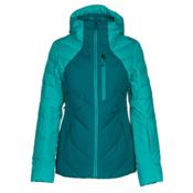 The North Face Corefire Down Womens Insulated Ski Jacket, Harbor Blue-Vistula Blue, medium