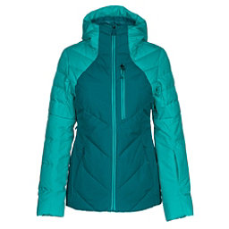 The North Face Corefire Down Womens Insulated Ski Jacket, Harbor Blue-Vistula Blue, 256