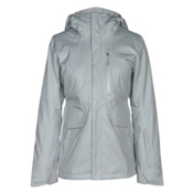 The North Face ThermoBall Snow Triclimate Womens Insulated Ski Jacket, TNF Light Grey Heather, medium