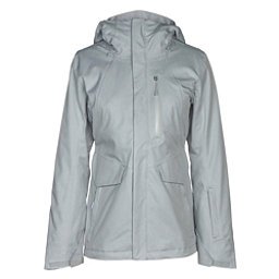 The North Face ThermoBall Snow Triclimate Womens Insulated Ski Jacket, TNF Light Grey Heather, 256