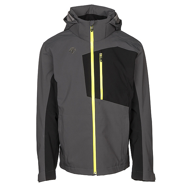 Descente Rage 3L Mens Shell Ski Jacket, Anthracite Gray-Black, 600