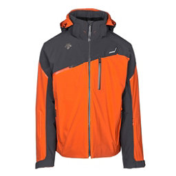Descente Fusion Mens Insulated Ski Jacket, Blaze Orange-Anthracite Gray, 256