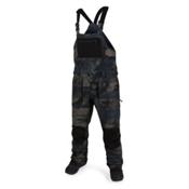 Volcom Roan Overall Mens Snowboard Pants, Camouflage, medium