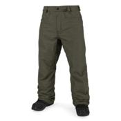 Volcom Carbon Mens Snowboard Pants, Military, medium