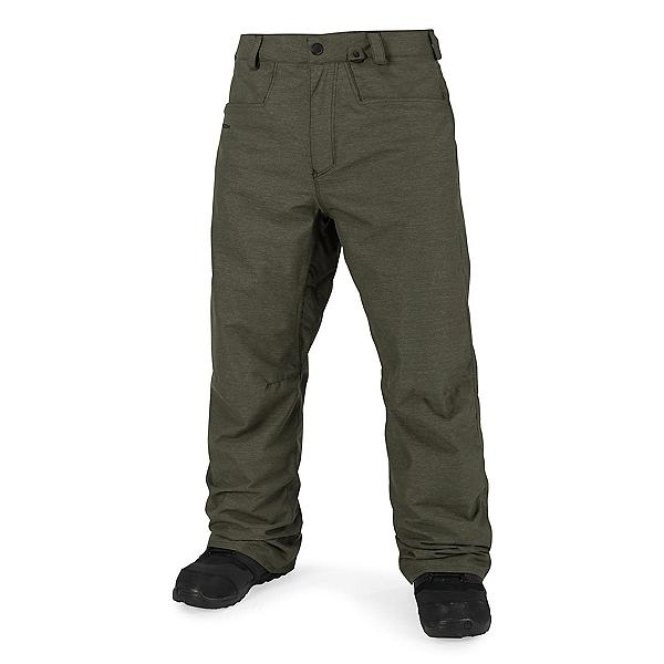 Volcom Carbon Mens Snowboard Pants, Military, 600