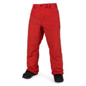 Volcom Carbon Mens Snowboard Pants, Fire Red, medium