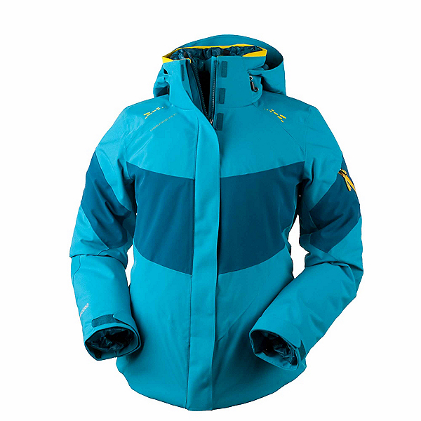 Obermeyer Double Dare 4-in-1 Down Womens Insulated Ski Jacket, Mermaid, 600