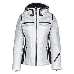 Obermeyer Devon Down Womens Insulated Ski Jacket, White, 256