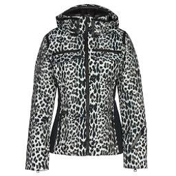 Obermeyer Devon Down Womens Insulated Ski Jacket, Leopard, 256