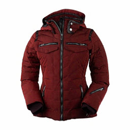 Obermeyer Devon Down - Petite Womens Insulated Ski Jacket, Red Tannin, 256