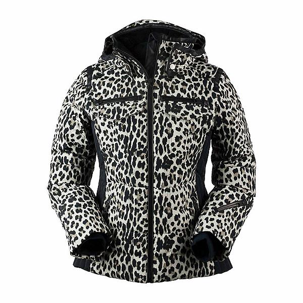 Obermeyer Devon Down - Petite Womens Insulated Ski Jacket, Leopard, 600
