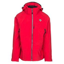 Descente Moe Mens Shell Ski Jacket, Electric Red-Black, 256