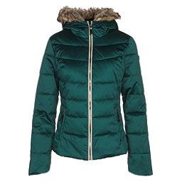 Obermeyer Bombshell w/Faux Fur Womens Insulated Ski Jacket, Glamp Green, 256
