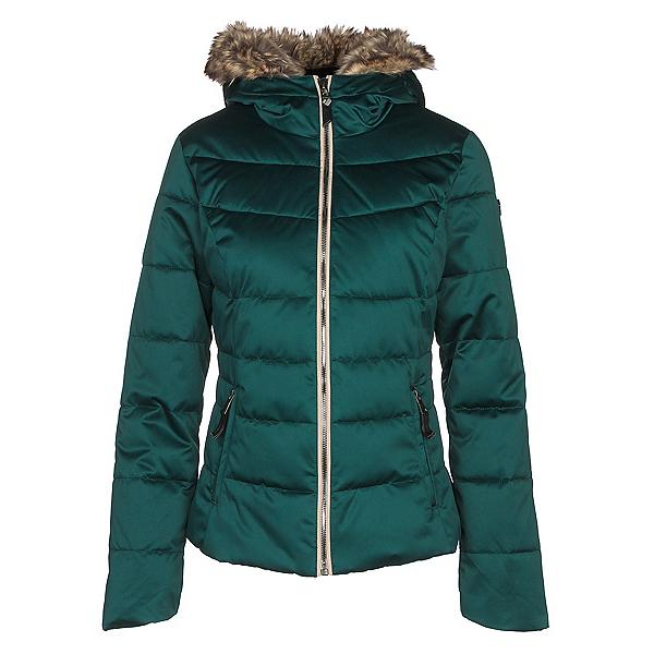 Obermeyer Bombshell w/Faux Fur Womens Insulated Ski Jacket, Glamp Green, 600