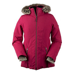 Obermeyer Siren w/Faux Fur Womens Insulated Ski Jacket, Sangria, 256