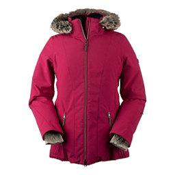 Obermeyer Siren Petite w/Faux Fur Womens Insulated Ski Jacket, Sangria, 256