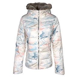 Obermeyer Bombshell w/Faux Fur Womens Insulated Ski Jacket, Geode Print, 256