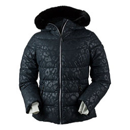 Obermeyer Bombshell w/Faux Fur Womens Insulated Ski Jacket, Dark Leopard, 256