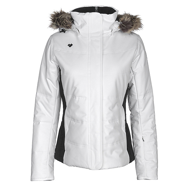 Obermeyer Tuscany w/Faux Fur Womens Insulated Ski Jacket, White, 600