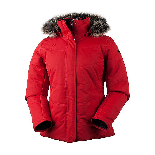 Obermeyer Tuscany Petite w/Faux Fur Womens Insulated Ski Jacket, Crimson, 600