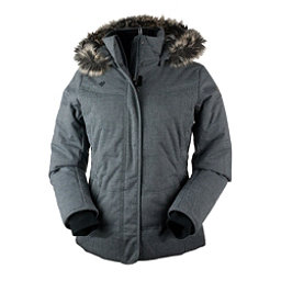 Obermeyer Tuscany Petite w/Faux Fur Womens Insulated Ski Jacket, Charcoal, 256