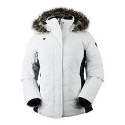 Obermeyer Tuscany Petite w/Faux Fur Womens Insulated Ski Jacket, White, 256