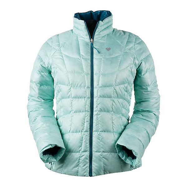 Obermeyer Soleil Reversible Down Insulator Womens Jacket, Sea Glass, 600