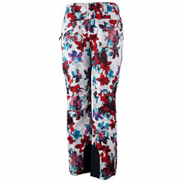 Obermeyer Malta - Short Womens Ski Pants, Snow Fire Floral, 256