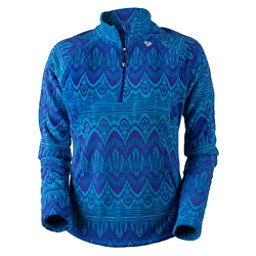 Obermeyer Siena Fleece Top Womens Mid Layer, Polar Blue Artisan Print, 256