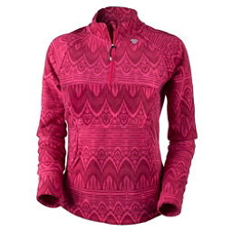 Obermeyer Siena Fleece Top Womens Mid Layer, Alpine Rose Artisan Print, 256
