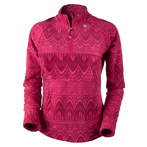 Obermeyer Siena Fleece Top Womens Mid Layer, Alpine Rose Artisan Print, 600