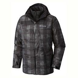 Columbia Whirlibird Interchange Tall Mens Insulated Ski Jacket, Black Camo, 256