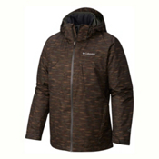 Columbia Whirlibird Interchange Big Mens Insulated Ski Jacket, Gravel-Texture Print, medium