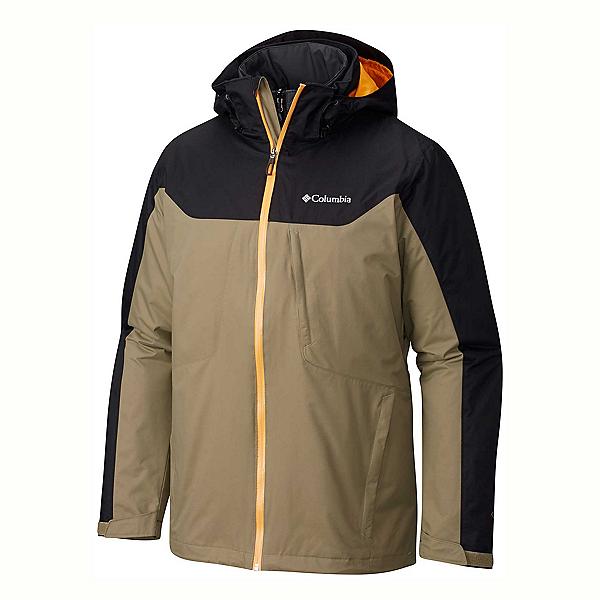 Columbia Whirlibird Interchange Big Mens Insulated Ski Jacket, Sage-Black, 600