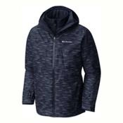 Columbia Whirlibird Interchange Big Mens Insulated Ski Jacket, Collegiate Navy-Texture Print, medium