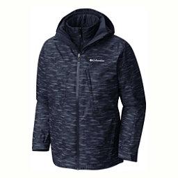 Columbia Whirlibird Interchange Big Mens Insulated Ski Jacket, Collegiate Navy-Texture Print, 256