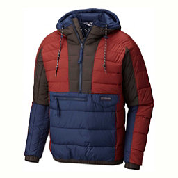 Columbia Norwester Anorak Pullover Puffy, Deep Rust-Collegiate Navy, 256