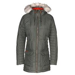 Columbia Della Fall w/Faux Fur Womens Jacket, Gravel, 256