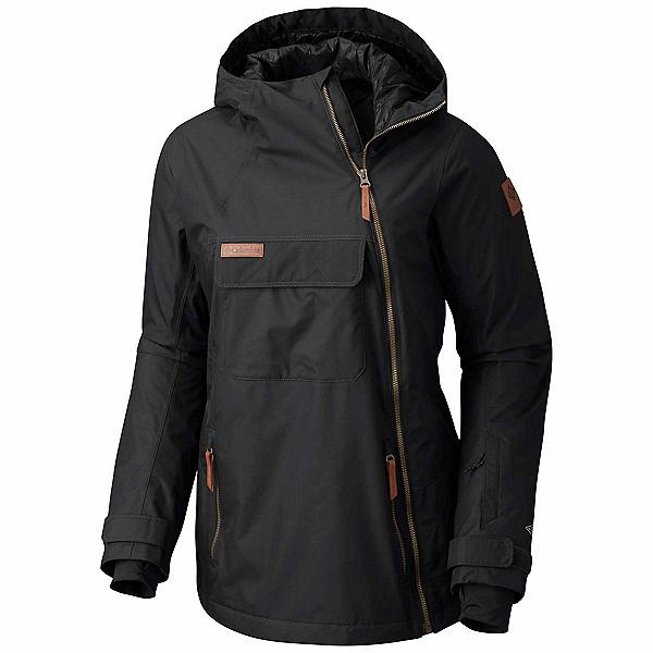 Columbia Catacomb Crest On Snow Anorak Womens Shell Ski Jacket, Black, 600