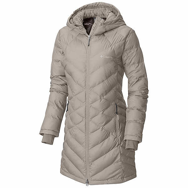 Columbia Heavenly Long Hooded Womens Jacket, Light Cloud, 600