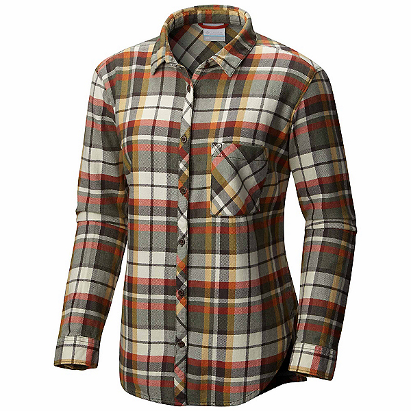 Columbia Deschutes River Flannel Shirt, Gravel, 600