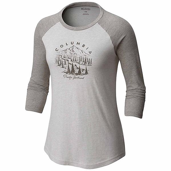 Columbia Mount Tabor Baseball Womens T-Shirt, Grey Heather, 600