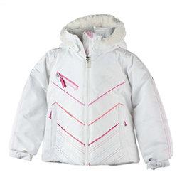 Obermeyer Sierra w/ Faux Fur Toddler Girls Ski Jacket, White, 256