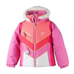 Obermeyer Sierra w/ Faux Fur Toddler Girls Ski Jacket, Peony Pink, 256
