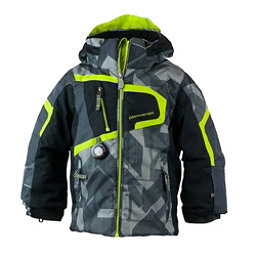 Obermeyer Super G Toddler Boys Ski Jacket, Gridlock Print, 256