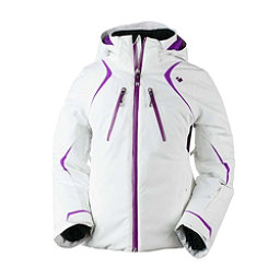 Obermeyer Gray Girls Ski Jacket, White, 256
