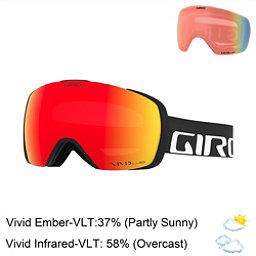 Giro Contact Goggles 2018, Black Wordmark-Vivid Ember + Bonus Lens, 256